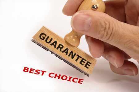 rubber stamp marked with guarantee and copy best choice