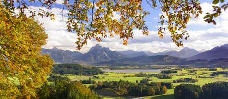 Herbststimmung im AllgÀu am Forggensee