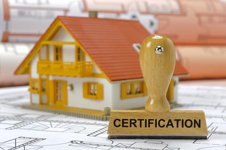 Photo pour certification printed on rubber stamp - image libre de droit