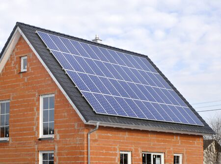Photo pour renewable energy with solar system - image libre de droit