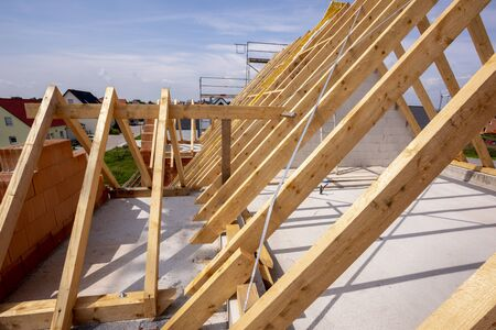Photo for Construction site of a newly built house - Royalty Free Image