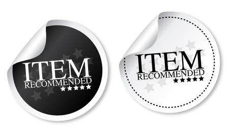 Illustration pour Item recommended stickers - image libre de droit