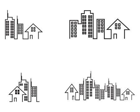 Illustration pour Building construction logo vector template - image libre de droit
