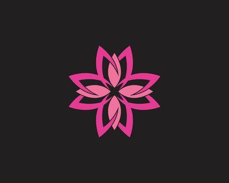 Illustration pour Rose flower Logo Template vector icon illustration - image libre de droit