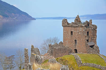 view of Loch Ness and Urquhart Castle, Scotland