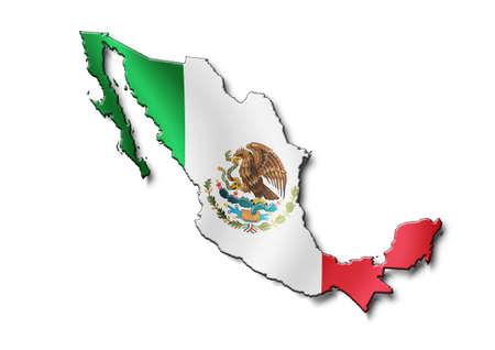 Photo pour map Mexico - image libre de droit