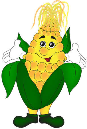 Kind and fun corn waiting to be eaten