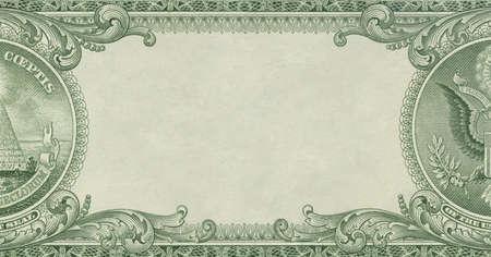 Money - U.S. dollar border with empty middle area