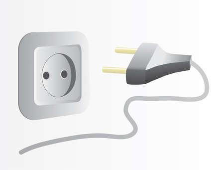 Plug and socket. Vector illustration