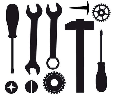 A set of tools for repairs. Vector illustration