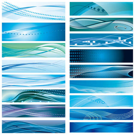 A set of abstract blue background. Vector illustration