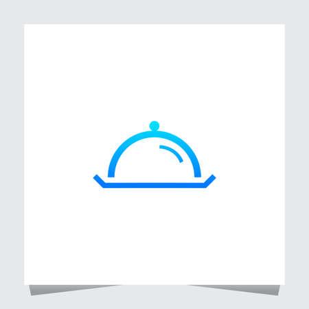 Ilustración de The restaurant logo with movable food. Icon - Imagen libre de derechos
