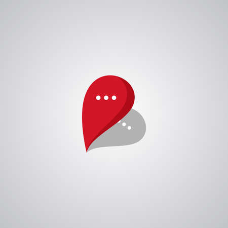 Photo pour Illustration Vector Graphic of Pin Chat . Perfect to use for Application Company - image libre de droit