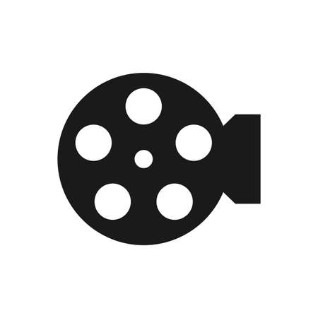 Illustration for Illustration Vector Graphic of Film Reel. Perfect to use for Cinema logo - Royalty Free Image
