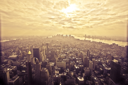 View from the Empire State Building in New York