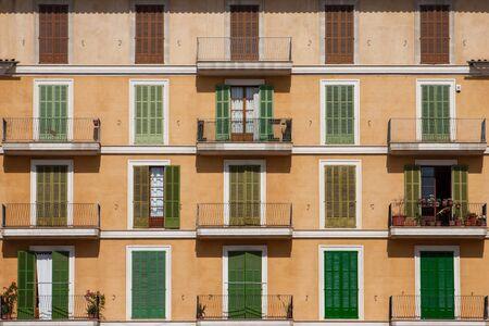 Spanish housefront with balcony
