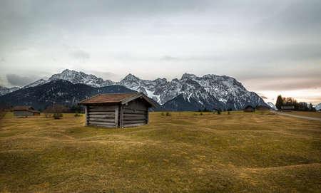 Barn in Alps near KrÃŒn, Buckelwiesen, Germany