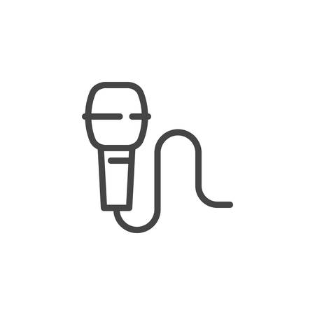 Microphone outline icon  Symbol of concert, live music