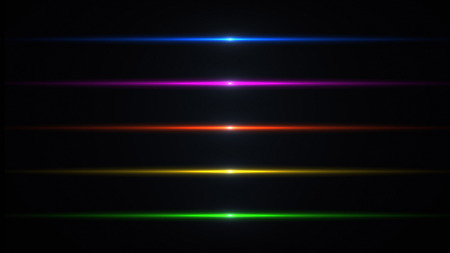 Photo pour Beautiful light flares. Glowing streaks on dark background. Luminous abstract sparkling lined background.  light effect wallpaper. Sci fi technology. - image libre de droit