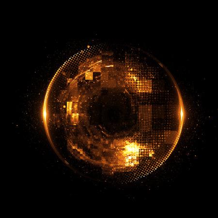 Photo pour Abstract background. luminous swirling. Elegant glowing circle. - image libre de droit