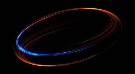 Photo pour Elegant glowing circle abstract background - image libre de droit