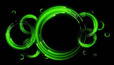 Photo pour Glow neon balls abstract background - image libre de droit