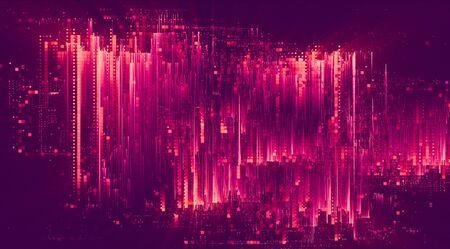 Foto de Light glitch effect abstract background - Imagen libre de derechos