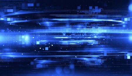 Photo pour Abstract tech background. Floating Numbers HUD Background. Matrix particles grid virtual reality. Smart build. Grid core. Hardware quantum form. Future technology - image libre de droit