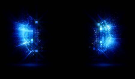 Photo pour Background empty wall with light frame.  Space for your text.  Empty Scene. Lens flare. Mystical portal. Splash gates. Glow parentheses. Shine parenthese. - image libre de droit