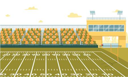 Illustration pour High School Football Stadium to Play and Watch - image libre de droit