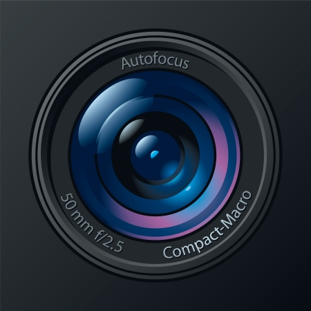 Front View of Photo Camera Lens. Illustration
