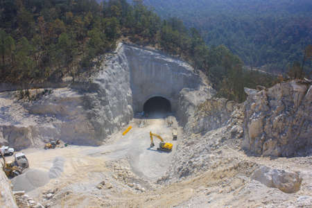 aerial view of the tunnel