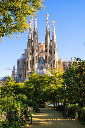 The Sagrada Familia, the cathedral designed by architect Gaudi, Which is Being build since 1882 and is not finished