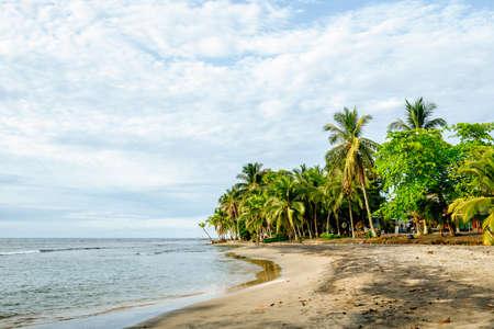 Landscape of beach in Puerto Viejo de Talamanca, Costa Rica.