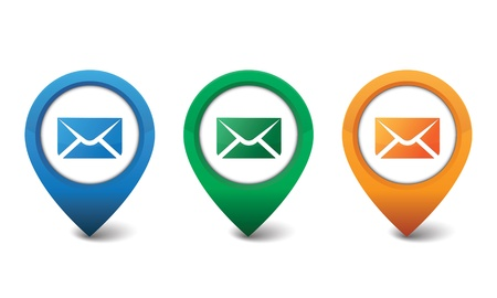 3D email icon design vector illustration