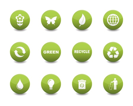 Illustration for Green icons - Royalty Free Image