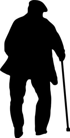 illustration of an old man
