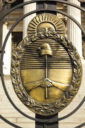 Shield of Argentina  Detail from argentina shield of the Congress  The National Congress in Buenos Aires, Argentina