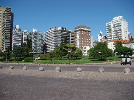 Urban Scene of Rosario, Argentina - day skyline