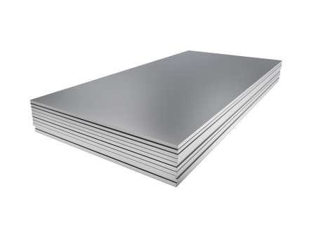 Foto per Stack of steel profile sheets. 3D Illustration - Immagine Royalty Free