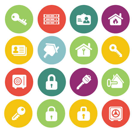 Illustration for Security icons - Royalty Free Image