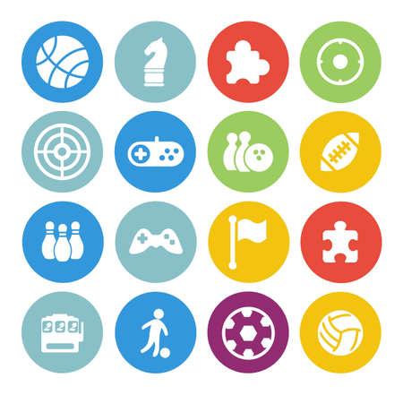 Illustration pour game icons set - image libre de droit
