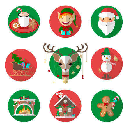 Illustration pour Christmas Icons And Elements Set Vector Illustration, Graphic Design. For Web, Websites, Print, Presentation Templates, Mobile Applications And Promotional Materials - image libre de droit