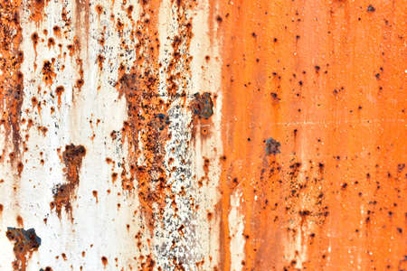 Photo pour Rusty painted metal surface with flecks and scratches - image libre de droit