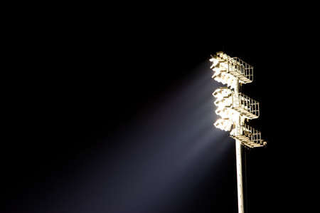 A stadium light stand with copy space