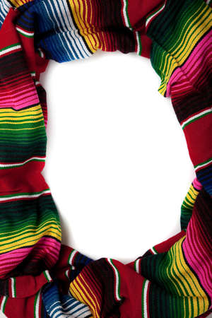 Mexican Serape with copy space in the middle