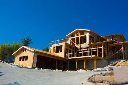 Foto für Wooden framing for construction of a new home - Lizenzfreies Bild