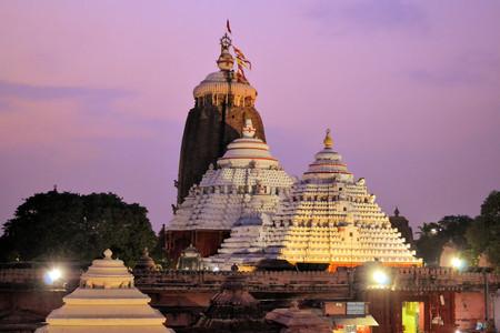 Jagannath Temple in Puri, 12th Century, Orissa, India. Jagannath temple hosts the annual procession of massive chariots, juggernauts, a Hindu festival