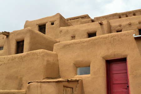 Taos Pueblo ancient Indian indegineous adobe city in New Mexico
