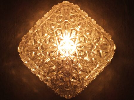 Lightened brown crystals lamp